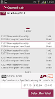 Screenshot of Train Tickets