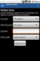 Screenshot of Slovíčka (zdarma)
