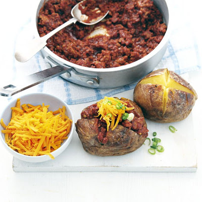 Turkey Chilli Jacket Potatoes