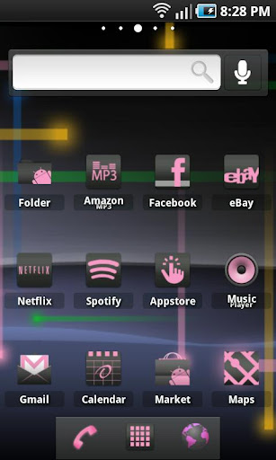 ADW Theme: Gingerbread Pink