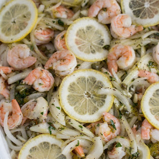 Lemon Caper Marinated Shrimp