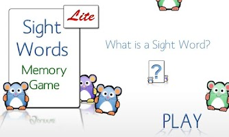 Screenshot of Sight Words Memory Game Free
