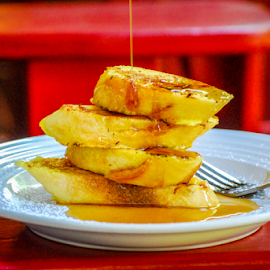 French Toast by D Clark  / B  Worthington - Food & Drink Plated Food ( syrup, bread, food, breakfast, french, toast )