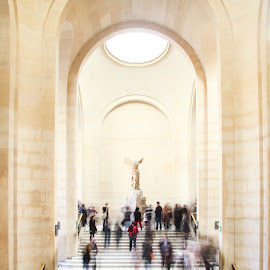 Winged Victory at The Louvre by Jess Glass - Buildings & Architecture Statues & Monuments ( winged victory, paris, louvre, stairs, museum )