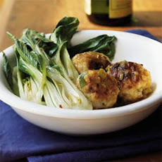 Turkey-Jasmine Rice Meatballs with Baby Bok Choy