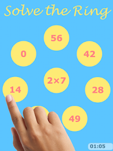 NEW Times Tables: MATHS RINGS - screenshot