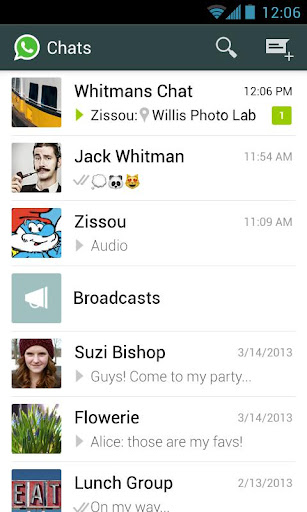 whatsapp-messenger for android screenshot