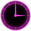 Pink Glow Clock Widget icon