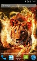 Screenshot of Fire Lion Live Wallpaper