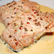 Wild Salmon With Pink Peppercorn Sauce