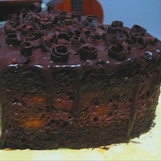 Chocolate Layer Cake with Chocolate Glaze