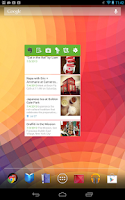 Screenshot of Evernote Widget
