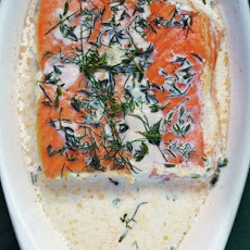 Salmon Baked in Cream With Sweet Bay, Thyme, and Dill From 'The Nourished Kitchen'