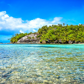 Tropical Paradise by Travis Pambu - Landscapes Travel ( silhouette island, august 2011, seychelles,  )