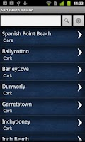 Screenshot of Surf Guide Ireland