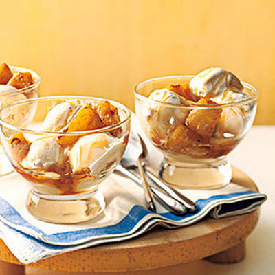 Brown Sugar-Pineapple Sundaes