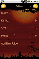Screenshot of Easy SMS Halloween theme