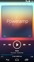 Screenshot of Poweramp skin KitKat/JB/ICS