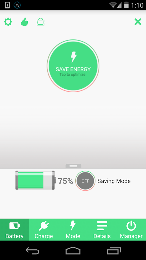 Battery Saver HD Screenshot 1