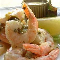 Jumbo Shrimp With Chive Butter