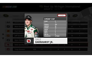 Screenshot of NASCAR.COM LIVE