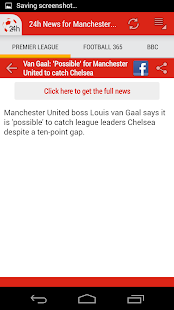 24h News for Man. United - screenshot