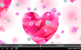 Screenshot of Pink Diamonds Live Wallpaper