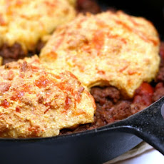 Spiced Beef Corn Bread Cobbler