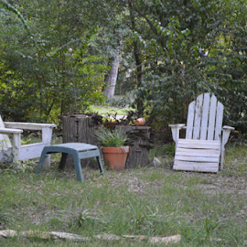 Outdoor seating for two by Misty Hanna - Artistic Objects Furniture ( Chair, Chairs, Sitting )