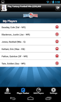 Screenshot of FantasyAlarm Fantasy Football