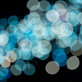 Dots by Daniel Johnson - Abstract Light Painting ( lights, blue, christmas, glow, dots )