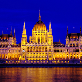 The Hungarian Parliament Building  by Mike Bing - Buildings & Architecture Public & Historical ( parliament, hungary, budapest, blue hour, historical, public, danube )
