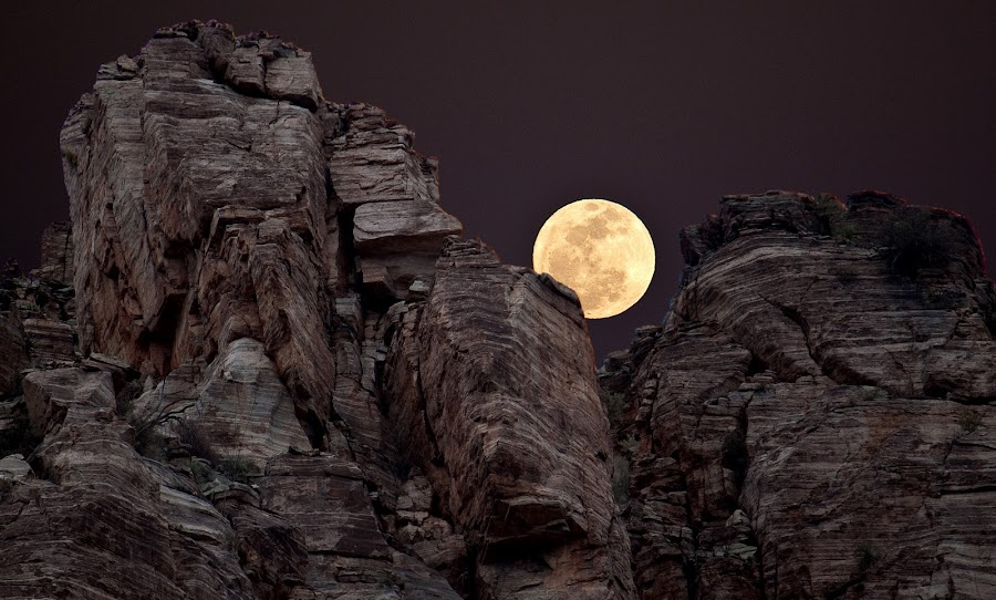 Evening Moon by Greg Harcharik - Landscapes Mountains & Hills ( . )