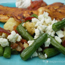 Vegetable Saute With Blue Cheese