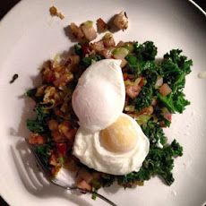 Leek, Bacon, Kale & Brussels Sprout Hash