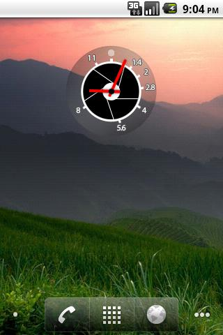 Aperture Clock Widget