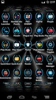 Screenshot of BlueHoloBatcons Launcher Icons