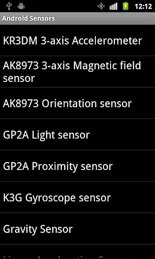 Sensors of Android