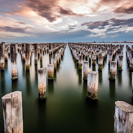 Princes Pier, Port Melbourne by Zubair Aslam - Buildings & Architecture Other Exteriors ( port melbourne, melbourne, princes pier, pier, long exposure, landscape )