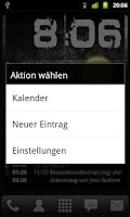 Screenshot of SimpleCalendarWidget