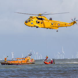 Air rescue  by Jason Hughes - Transportation Helicopters ( sea king, life boat, raf, rnli )