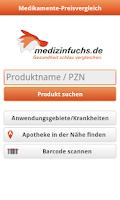 Screenshot of Medikamente-Preisvergleich