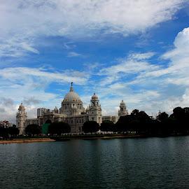 Victoria under blue sky by Santanu Dutta - Buildings & Architecture Public & Historical