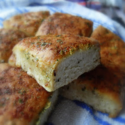 Herbed Oatmeal Pan Rolls
