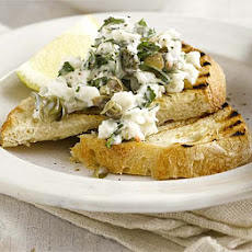Crab On Toast With Caper & Parsley Mayo