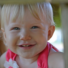 Peek a boo by Michelle Anderson Eich - Babies & Children Toddlers ( girl, baby girl, smile, toddler )