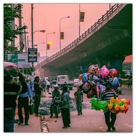 by Kamrul Hasan - City,  Street & Park  Street Scenes