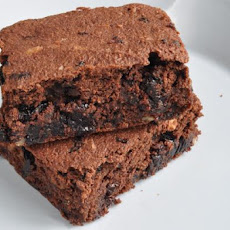 Okara Dark Chocolate Cherry Brownies