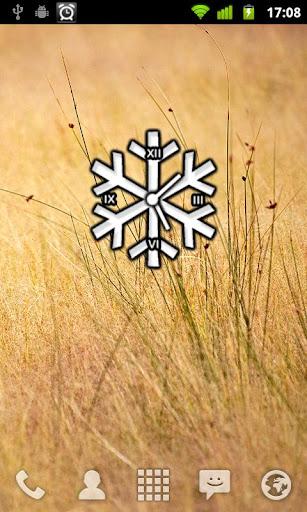 Clocky Snowflake winter clock