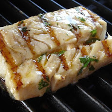 Grilled Marinated Halibut With Picante-Cilantro Mayo